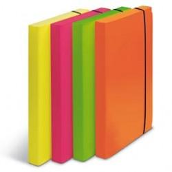 Cartella progetto D.3cm. con elastico colori fluo