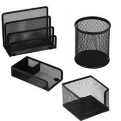 Set scrivania 4 accessori in rete