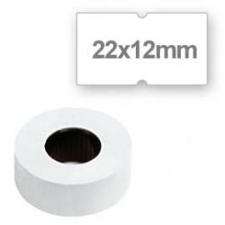 10 rotoli da 1000 etichette 22x12 bianche Lebex